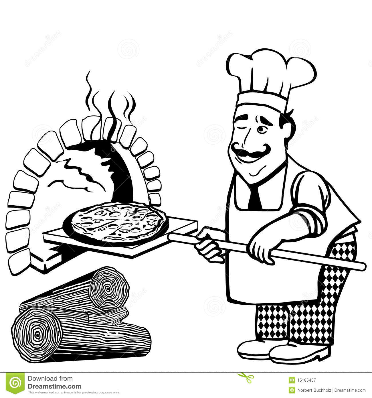 Wood Fired Pizza Stock Vector Illustration Of Menu