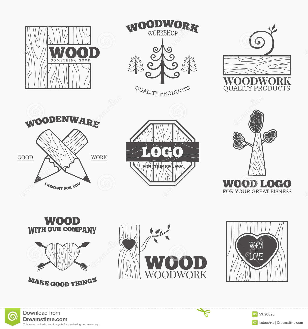 Wood Products Logo Vector Stock Vector