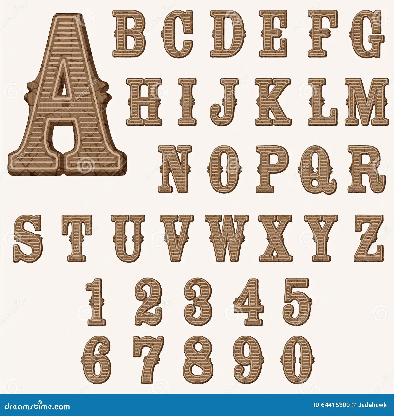 Wooden Alphabet Stock Vector