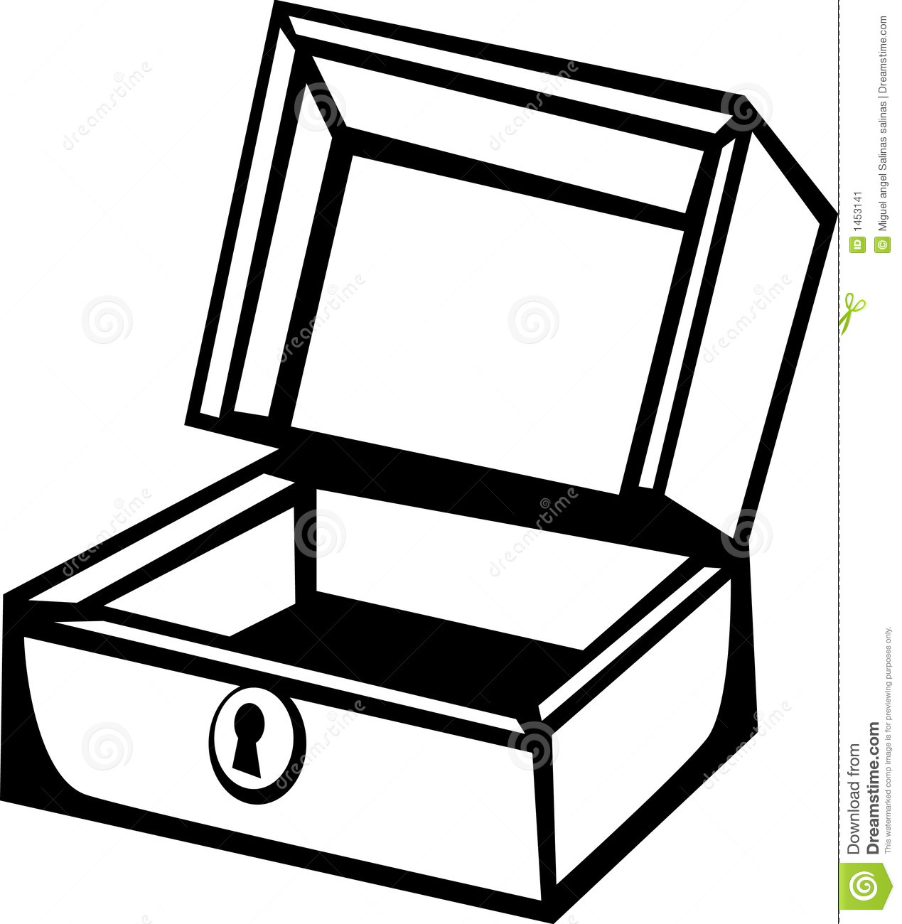 Wooden Box Vector Illustration Stock Vector