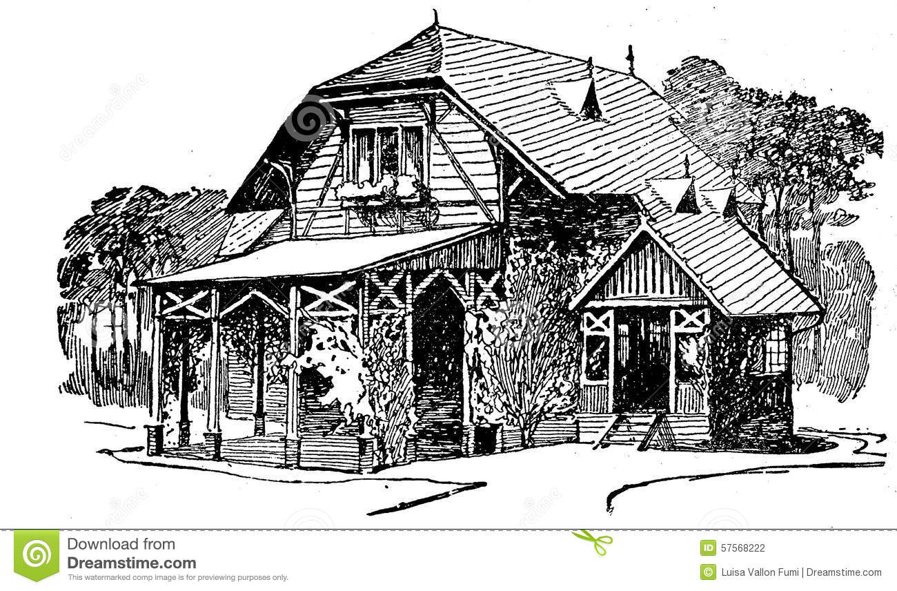 Coloring Building House Pages