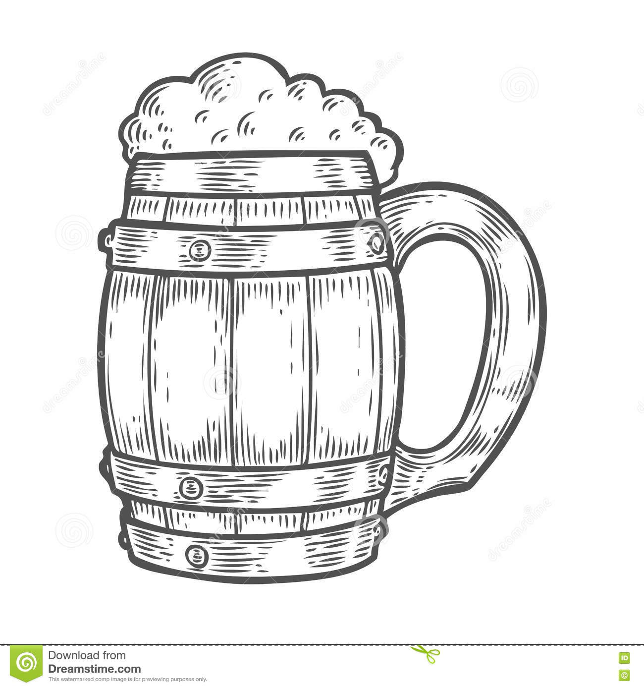 Craft Beer And Pub Sketch Vector Illustration Vector