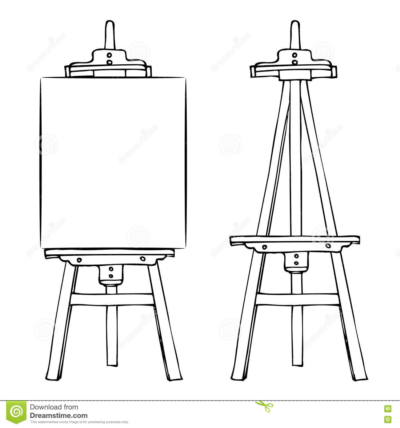 Presentation Easel Drawing Chalkboard Stock Photo