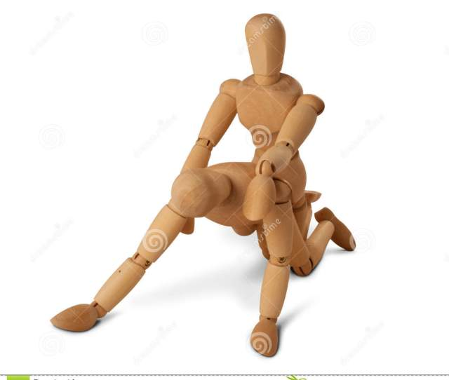 Wooden Figures With Doggy Style Position Download Preview