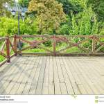 Wooden Deck Wood Backyard Outdoor Patio Garden Landscaping Stock Image Image Of Backyard Balustrade 55672113