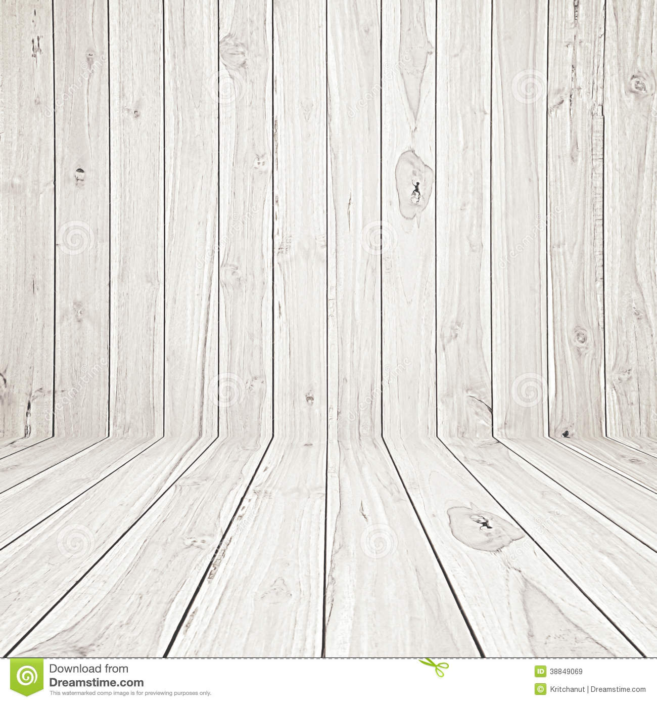 Wooden Room Background Stock Photo