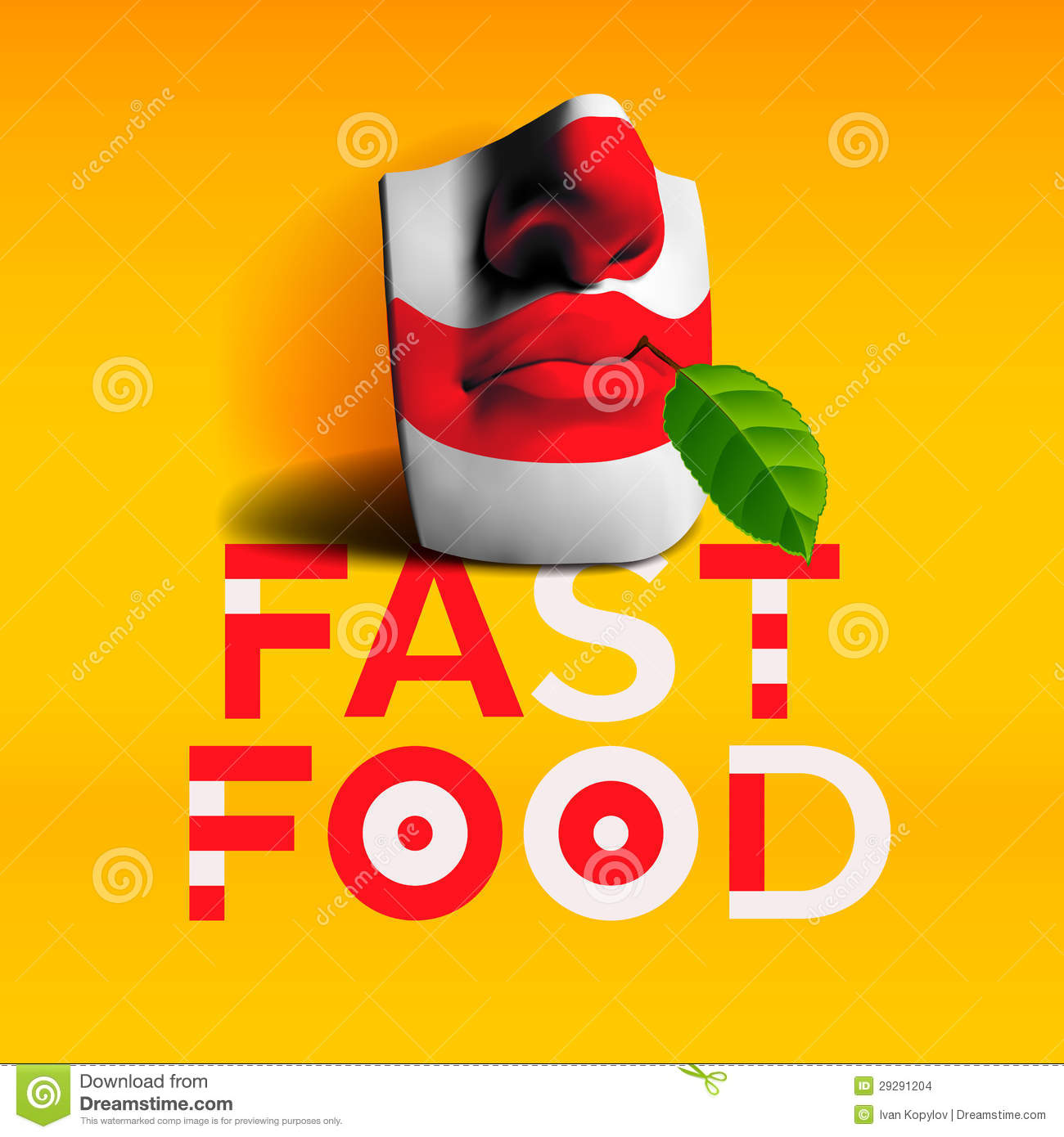 Word Fast Food Background Stock Images