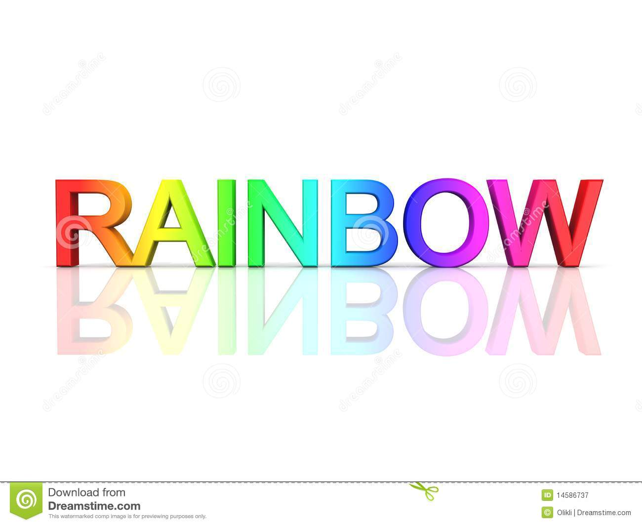 The Word Rainbow In Rainbow Colors Royalty Free Stock