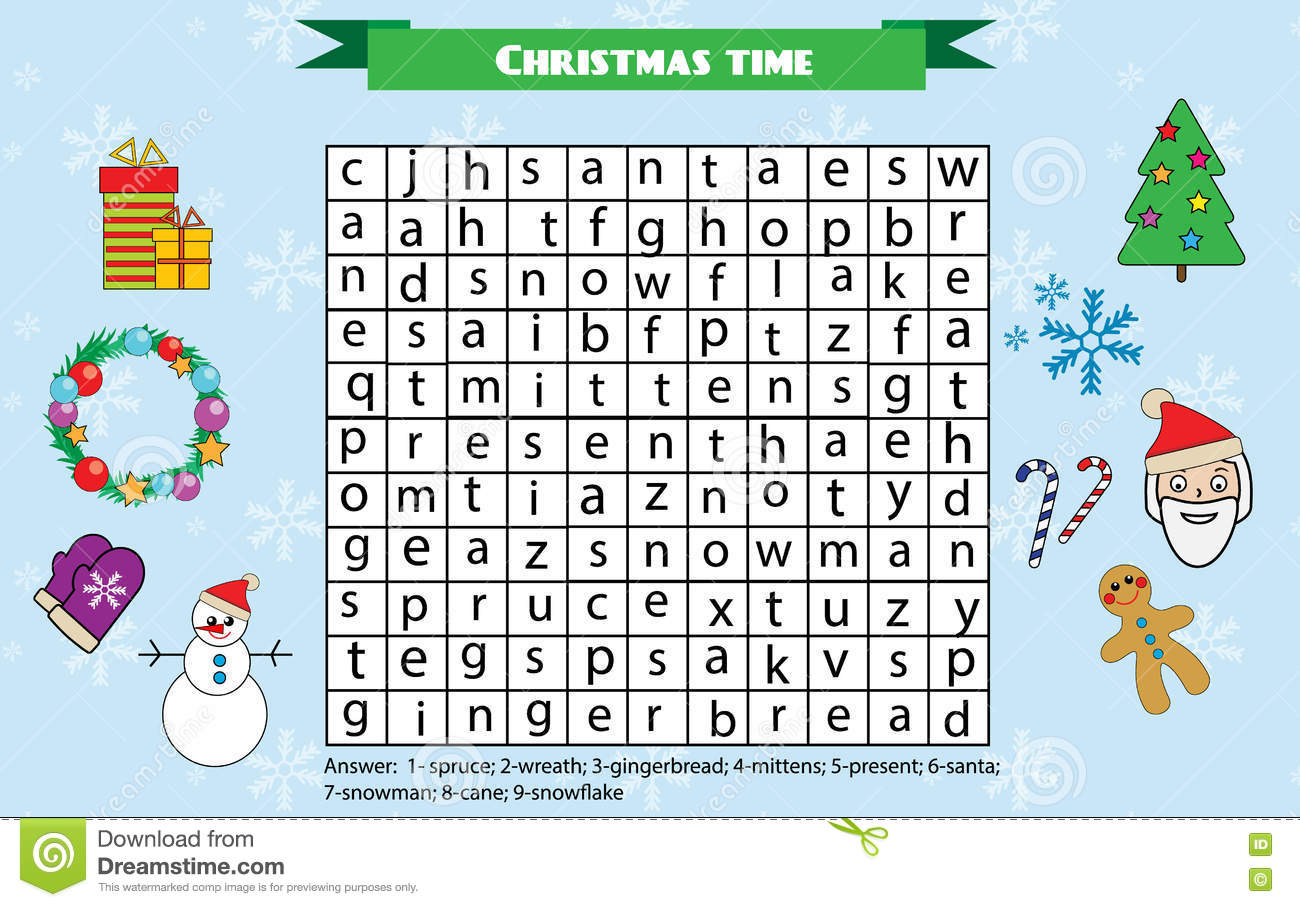 Word Search Puzzle For Children Educational Game