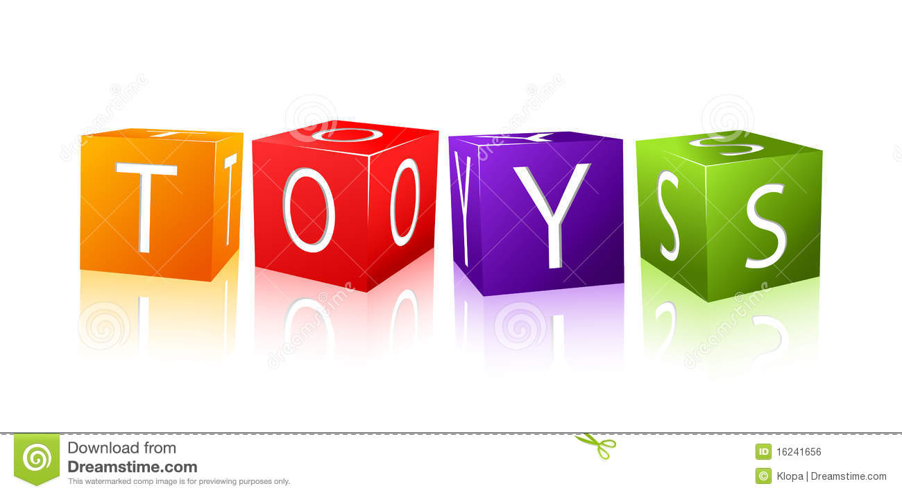 Word Toys Composed From Letter Cubes Royalty Free Stock