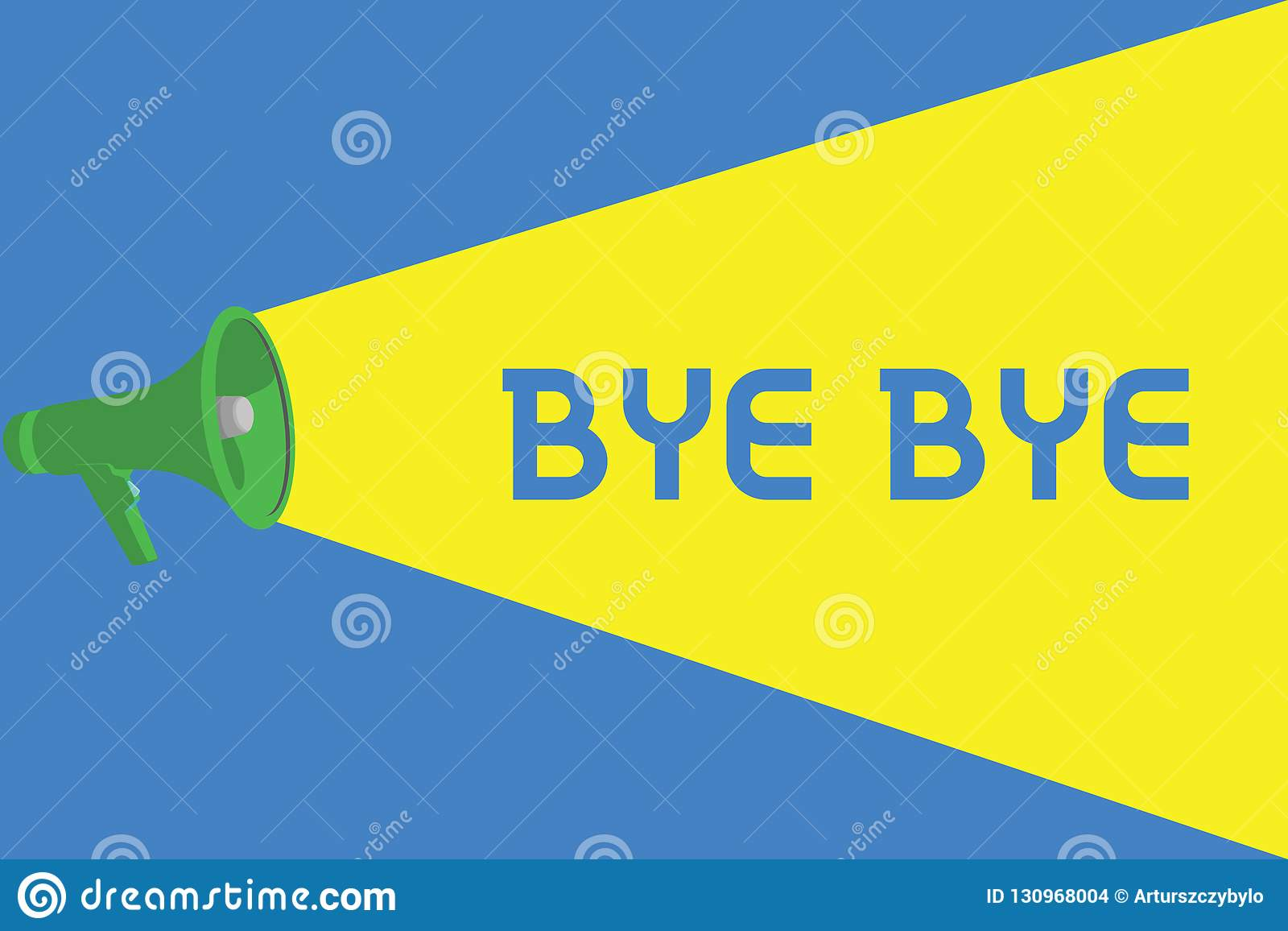 Word Writing Text Bye Bye Business Concept For Greeting