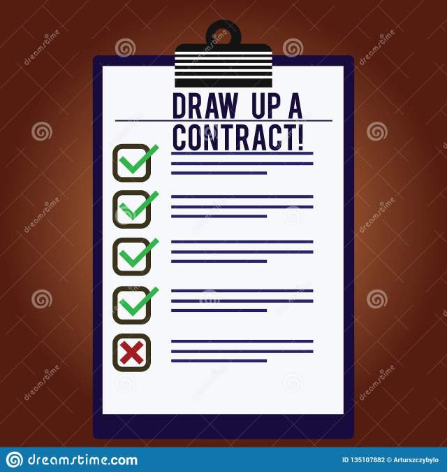 Word Writing Text Draw Up a Contract. Business Concept for Write a
