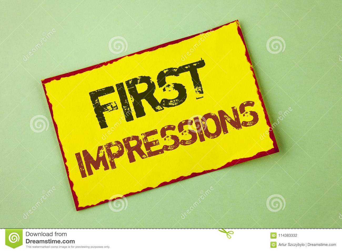 Word Writing Text First Impressions Business Concept For