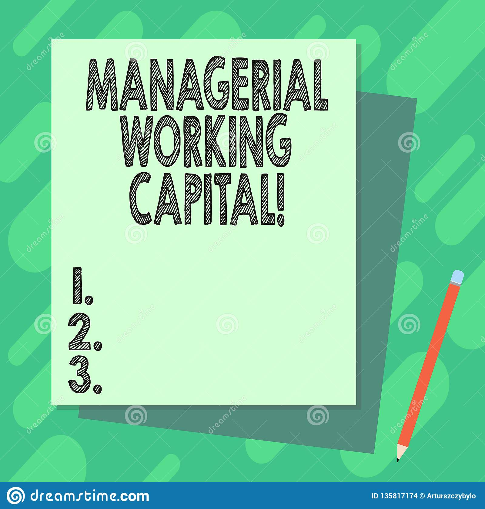 Word Writing Text Managerial Working Capital Business