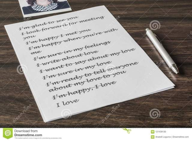 Letter to a loved one stock photo. Image of white, favorite