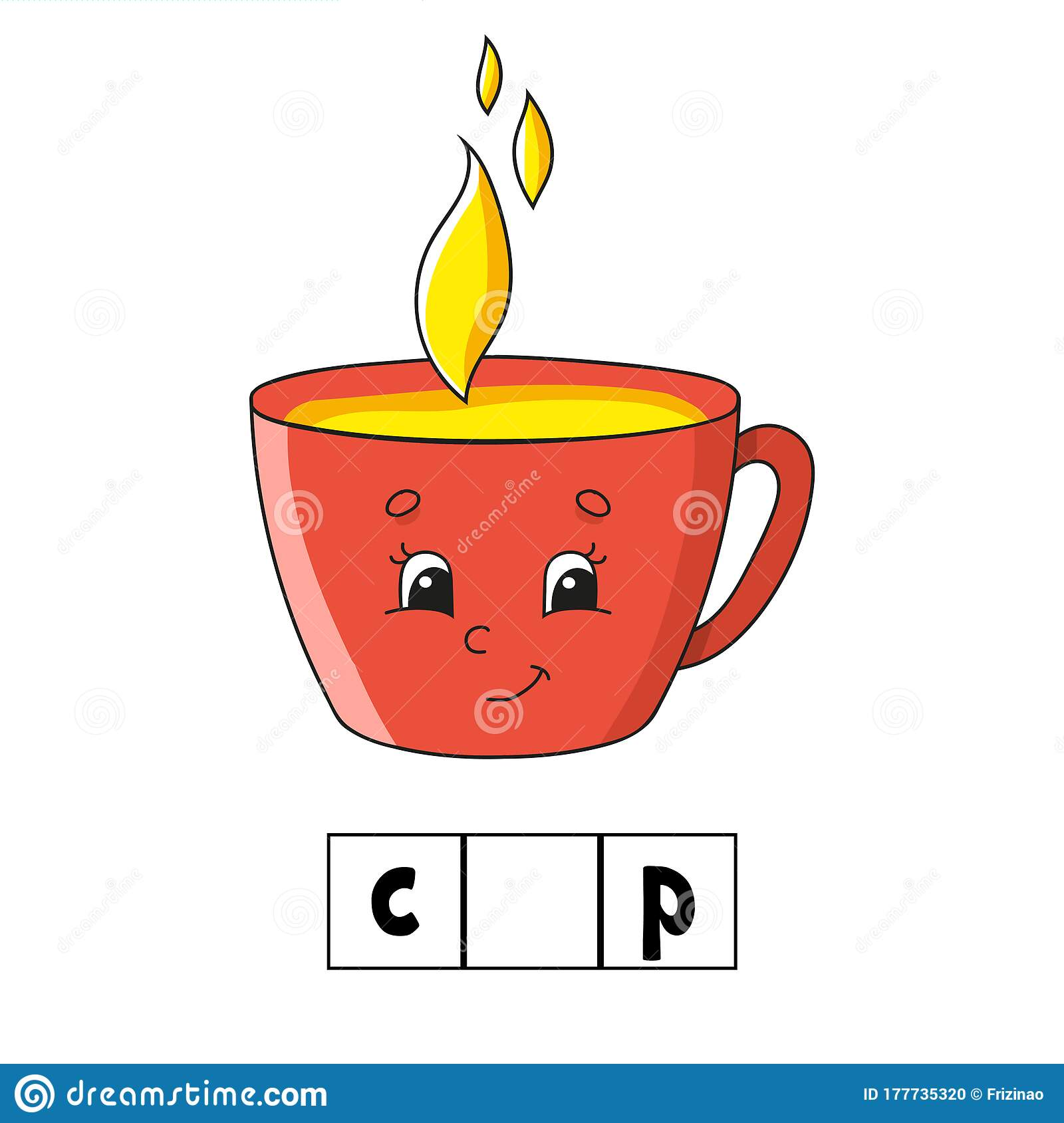 Words Puzzle Cup Education Developing Worksheet