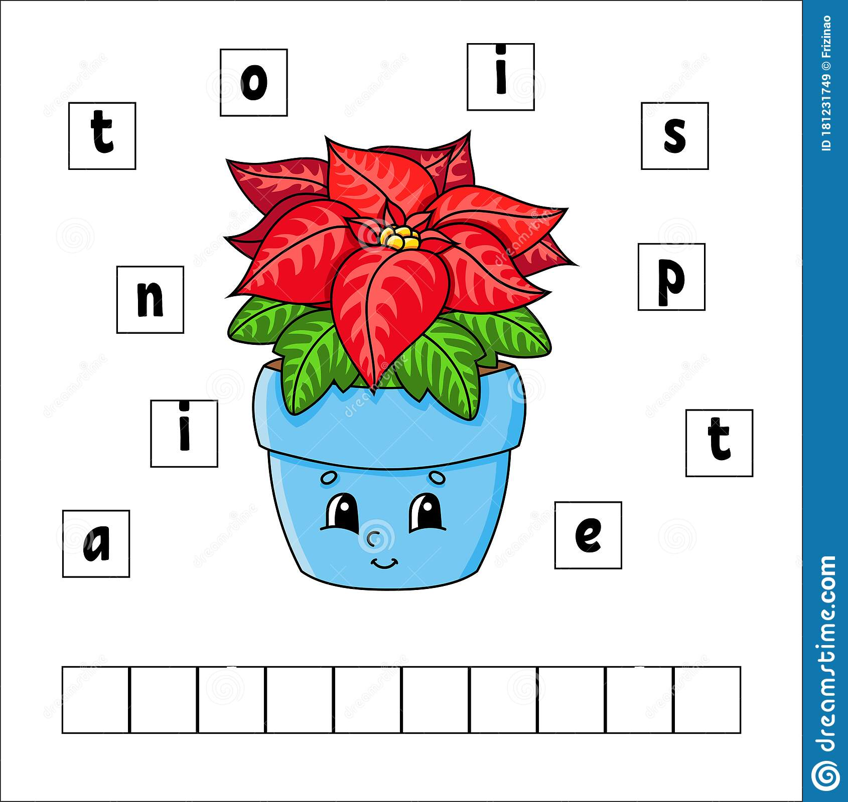 Words Puzzle Poinsettia Education Developing Worksheet