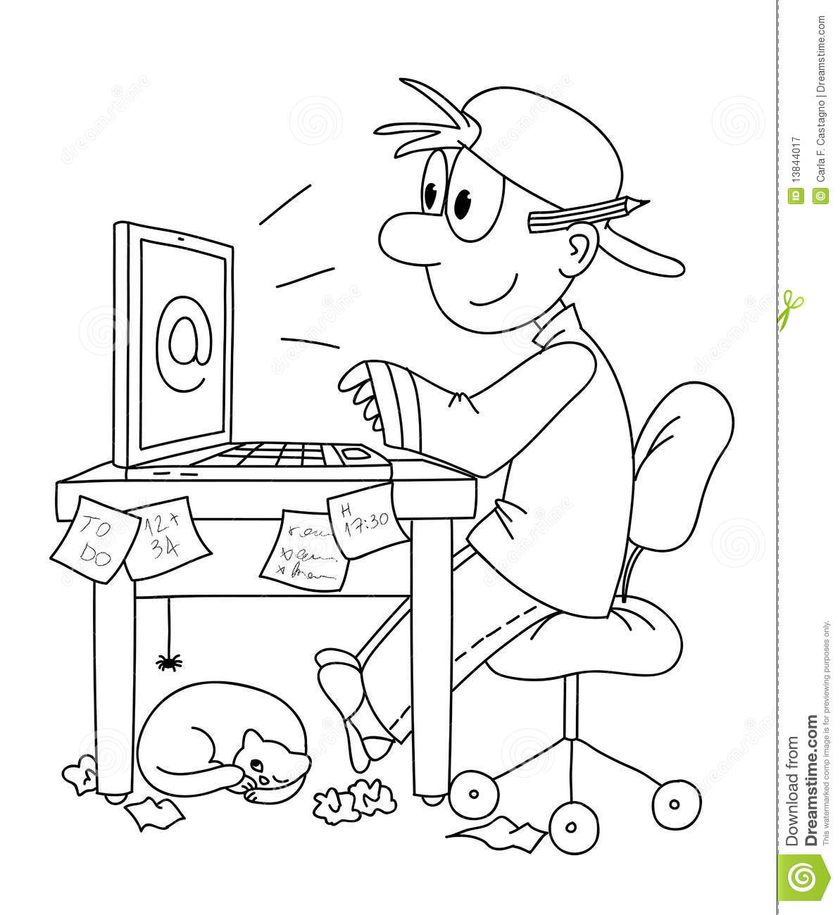 Work On Computer Stock Vector Illustration Of Videogames