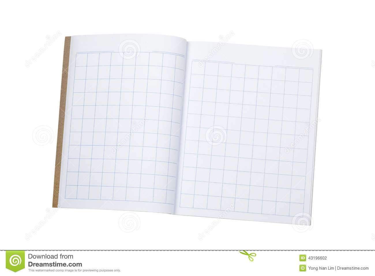 Workbook For Writing Chinese Characters Stock Photo