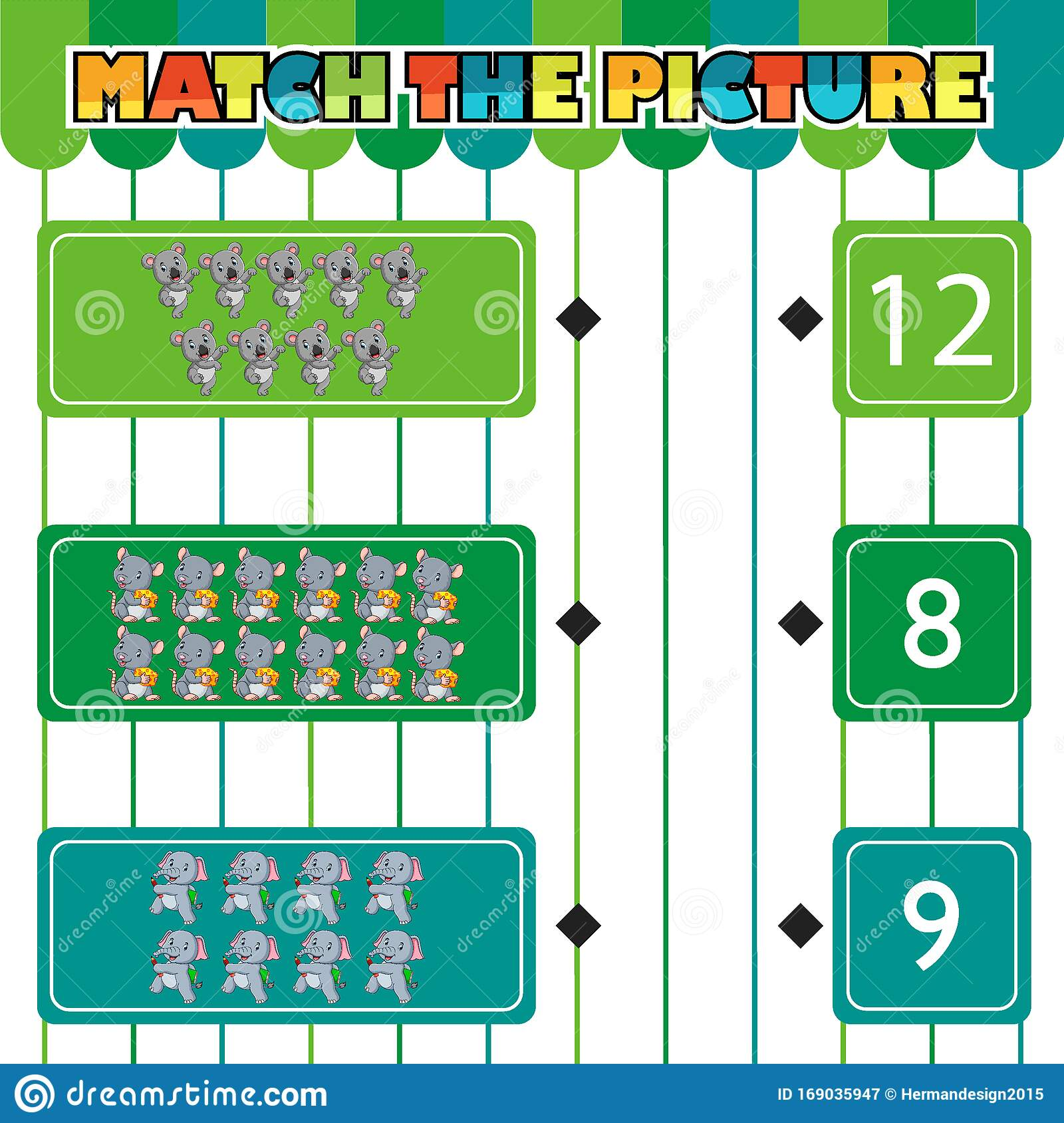 Worksheet For Children Counting And Connecting To Each
