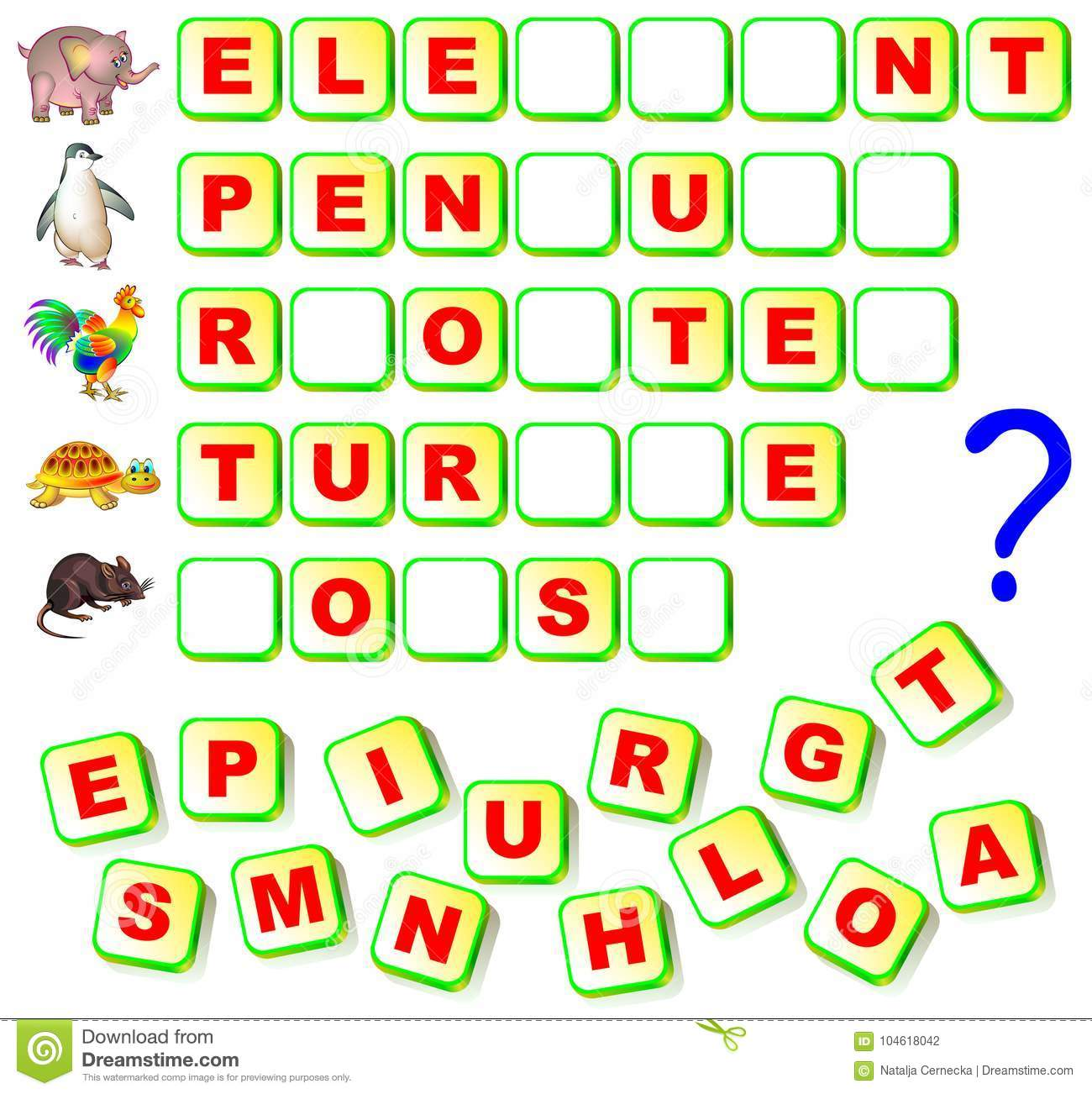 Worksheet For Children With Exercise For Study English