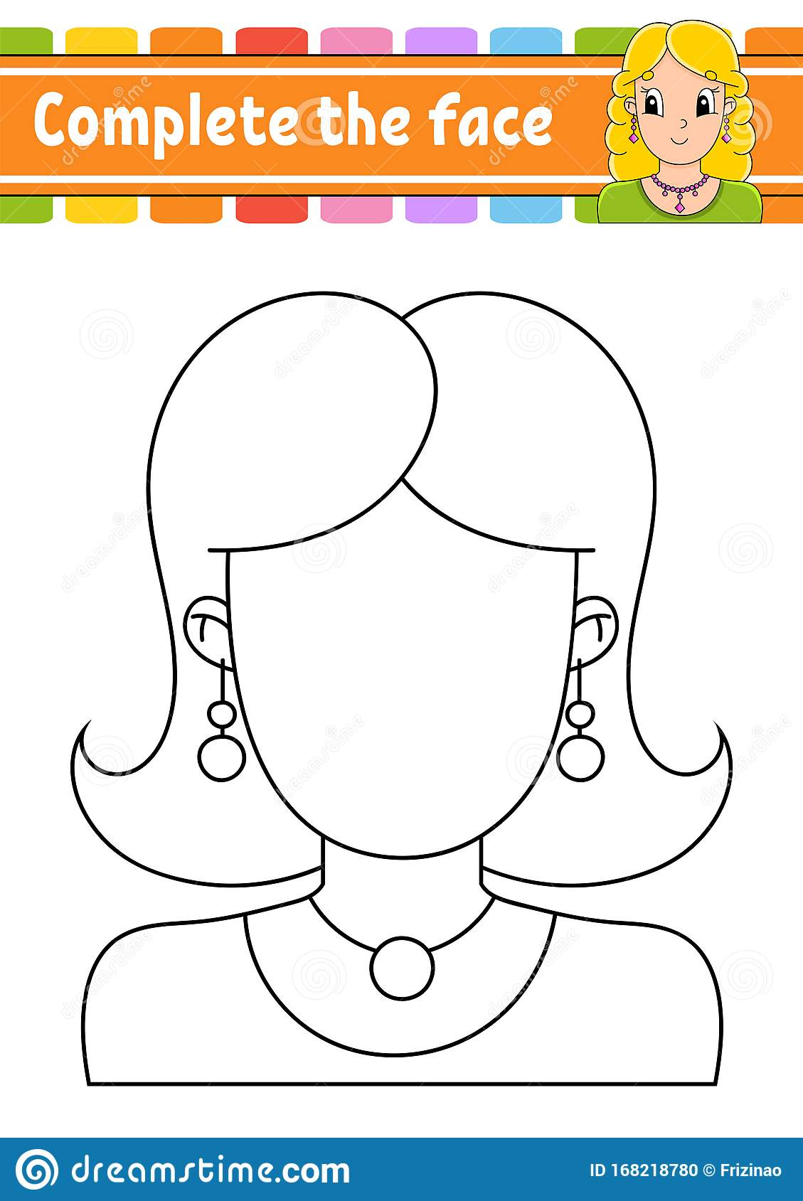 Worksheet Complete The Face Coloring Book For Kids