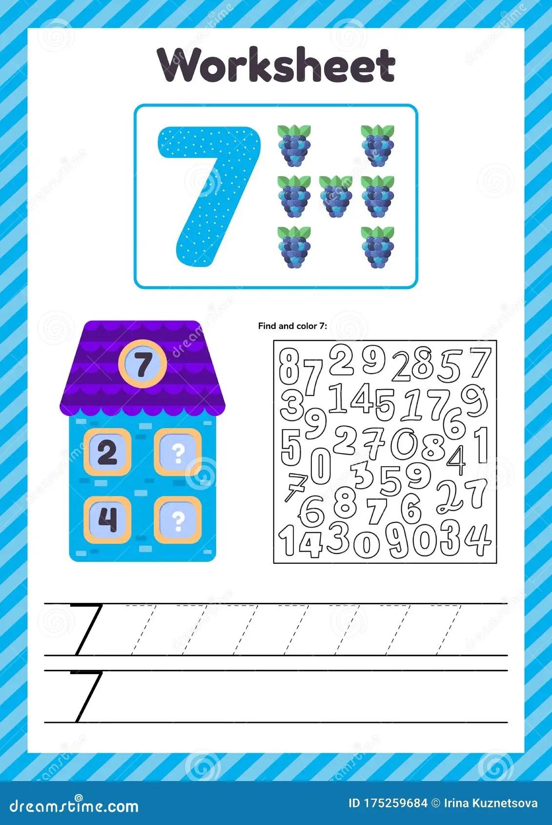 Worksheet Count For Kids House Number Bonds Trace Line