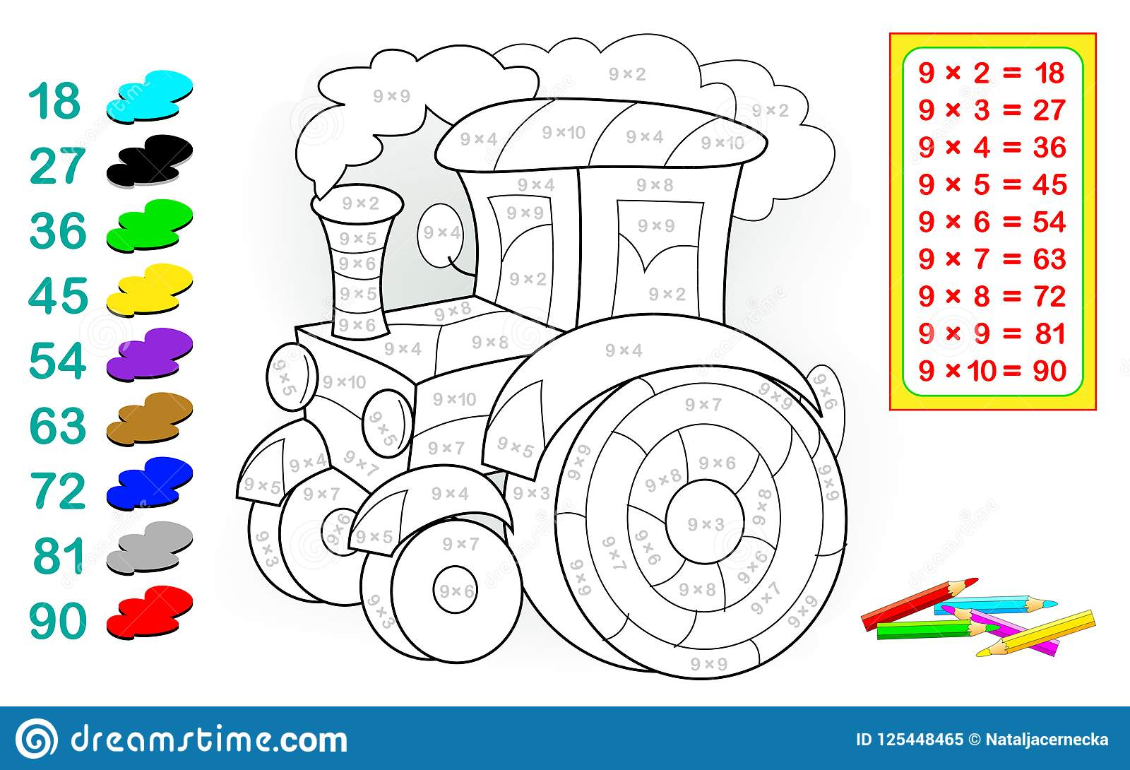 Worksheet With Exercises For Children With Multiplication