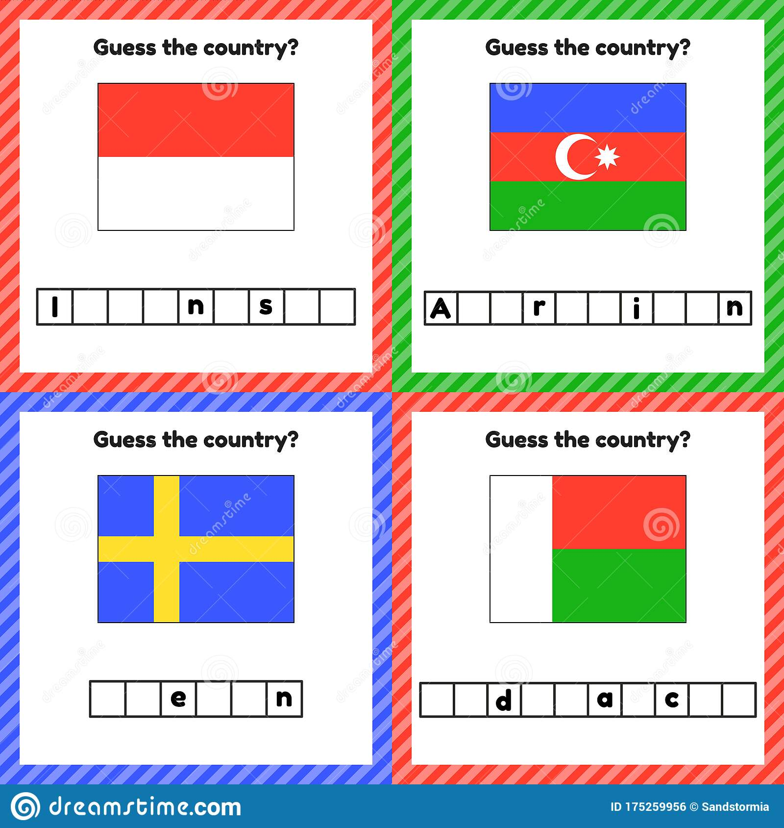 Worksheet On Geography For Preschool And School Kids