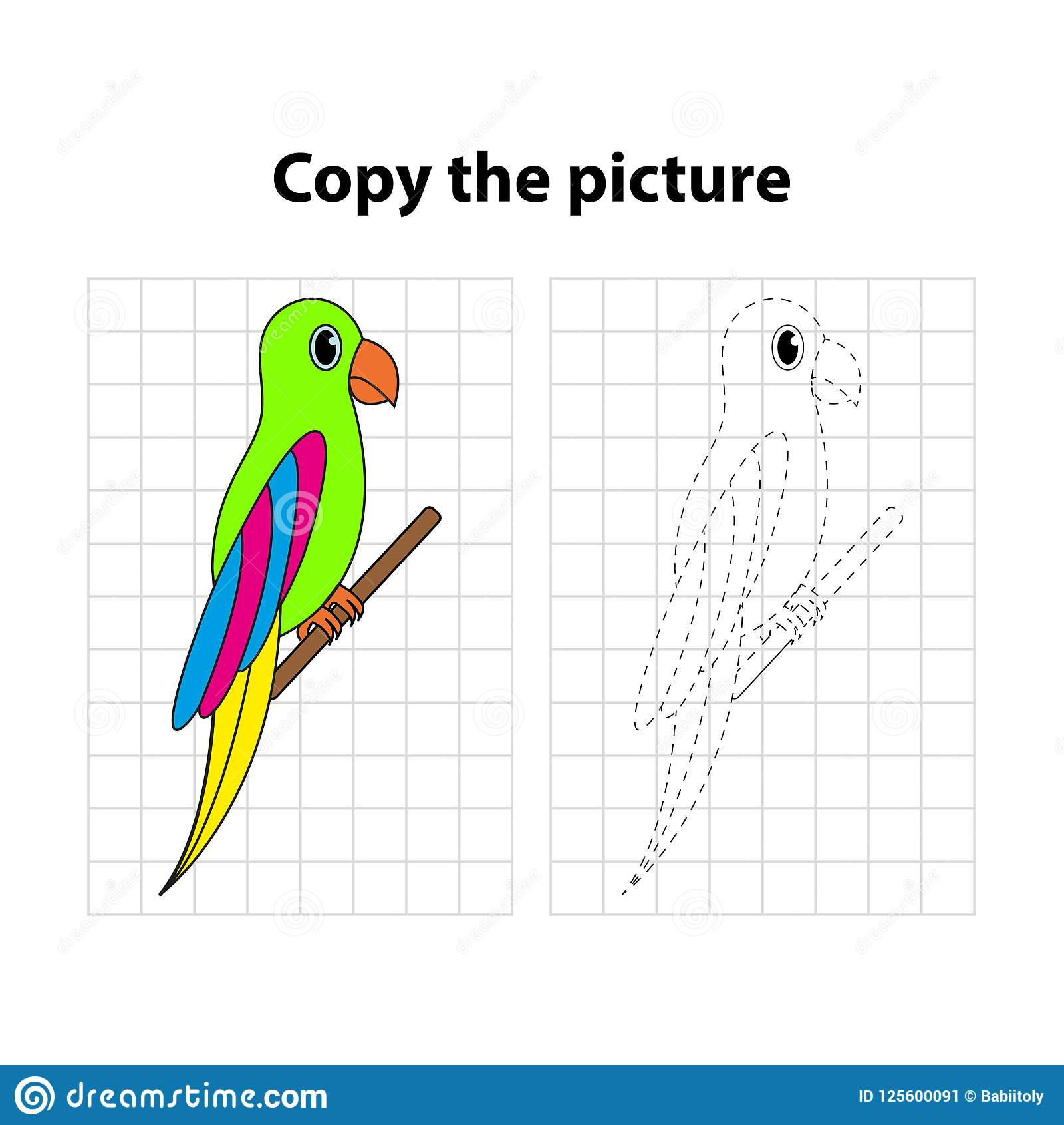 Worksheet For Kids Copy The Picture Game For Children