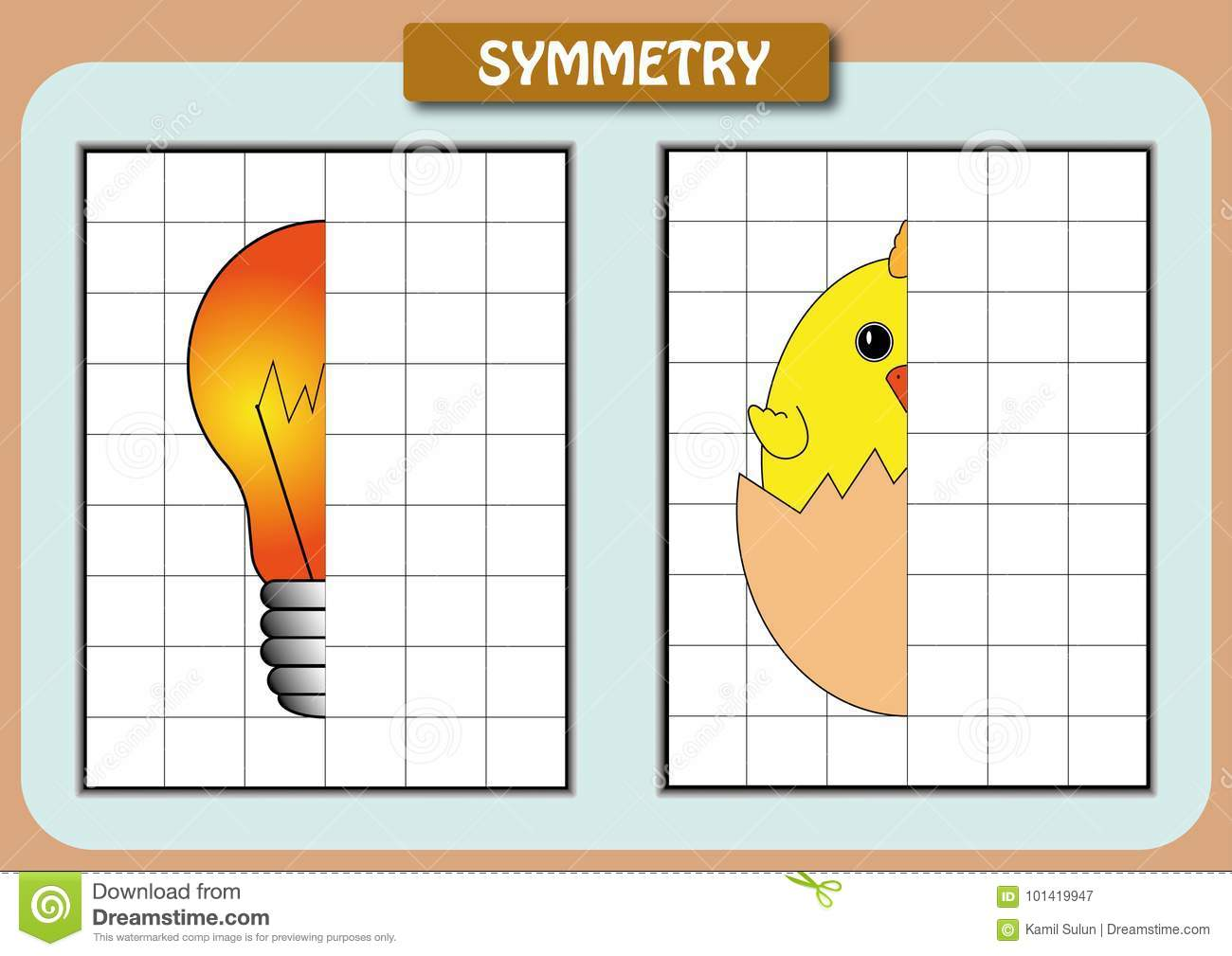 Draw The Other Half Of The Picture Worksheet