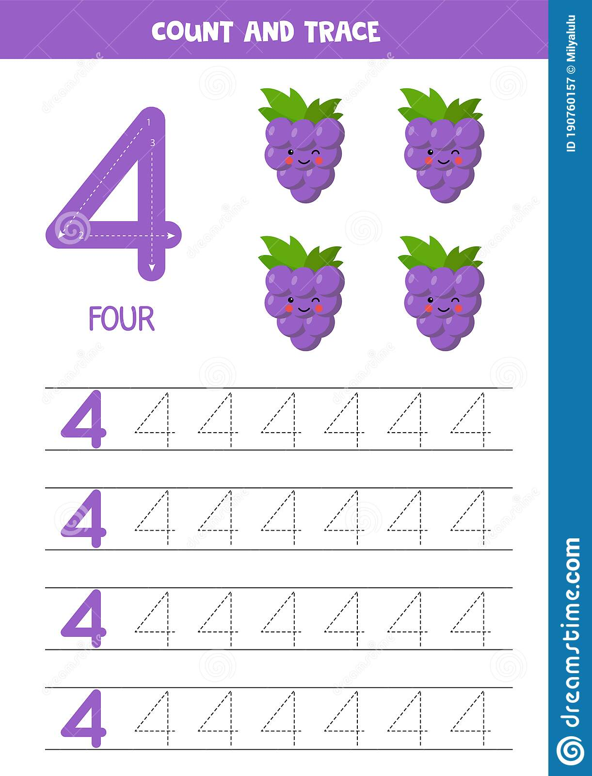 Worksheet For Learning Numbers With Cute G S Number