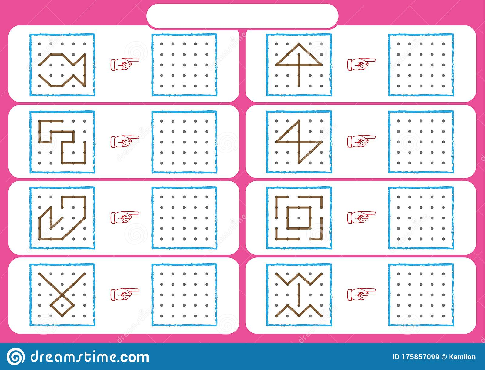 Worksheet For Preschool Kids Dot To Dot Copy Practice