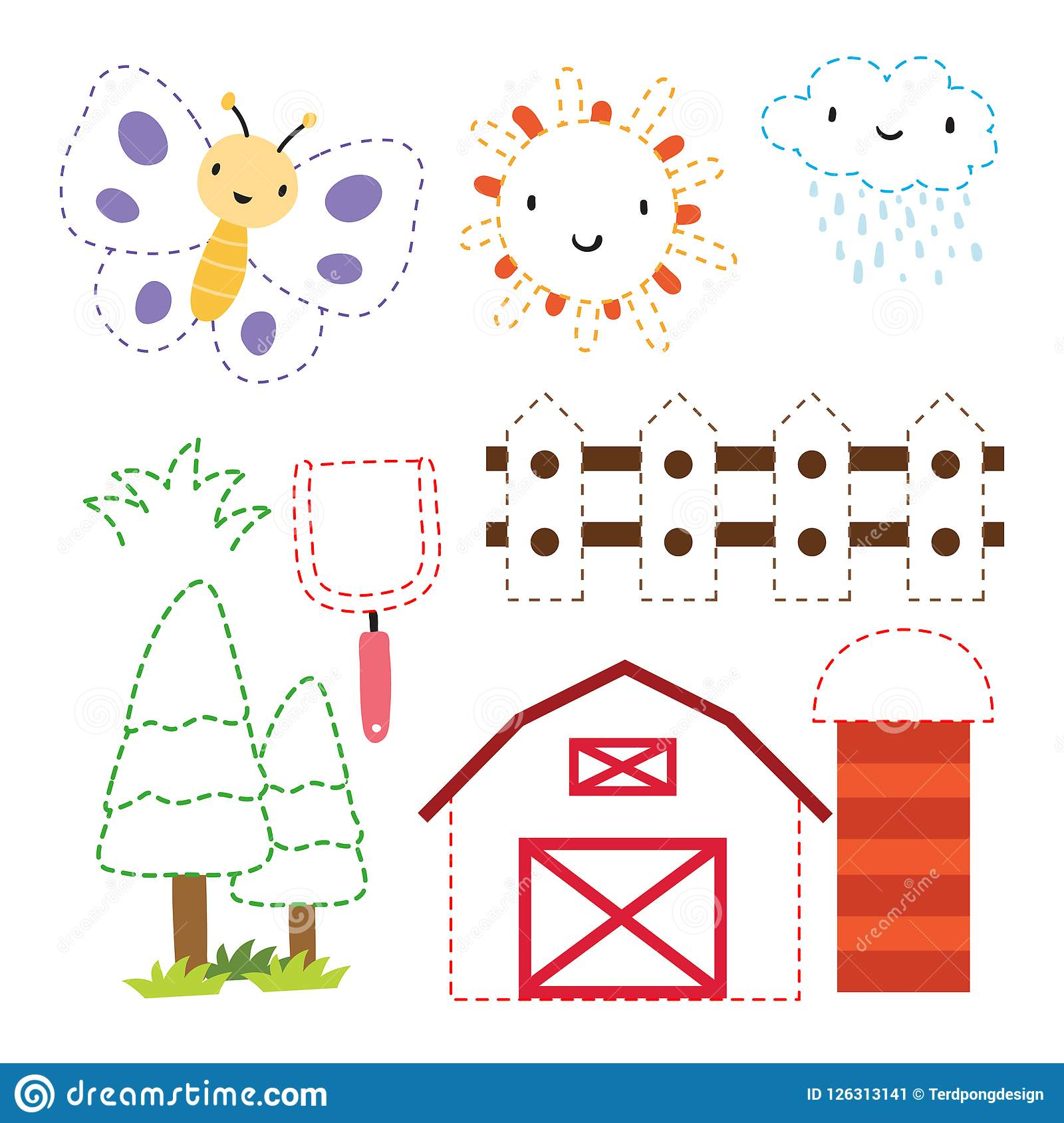Worksheet Vector Design For Kid Stock Illustration