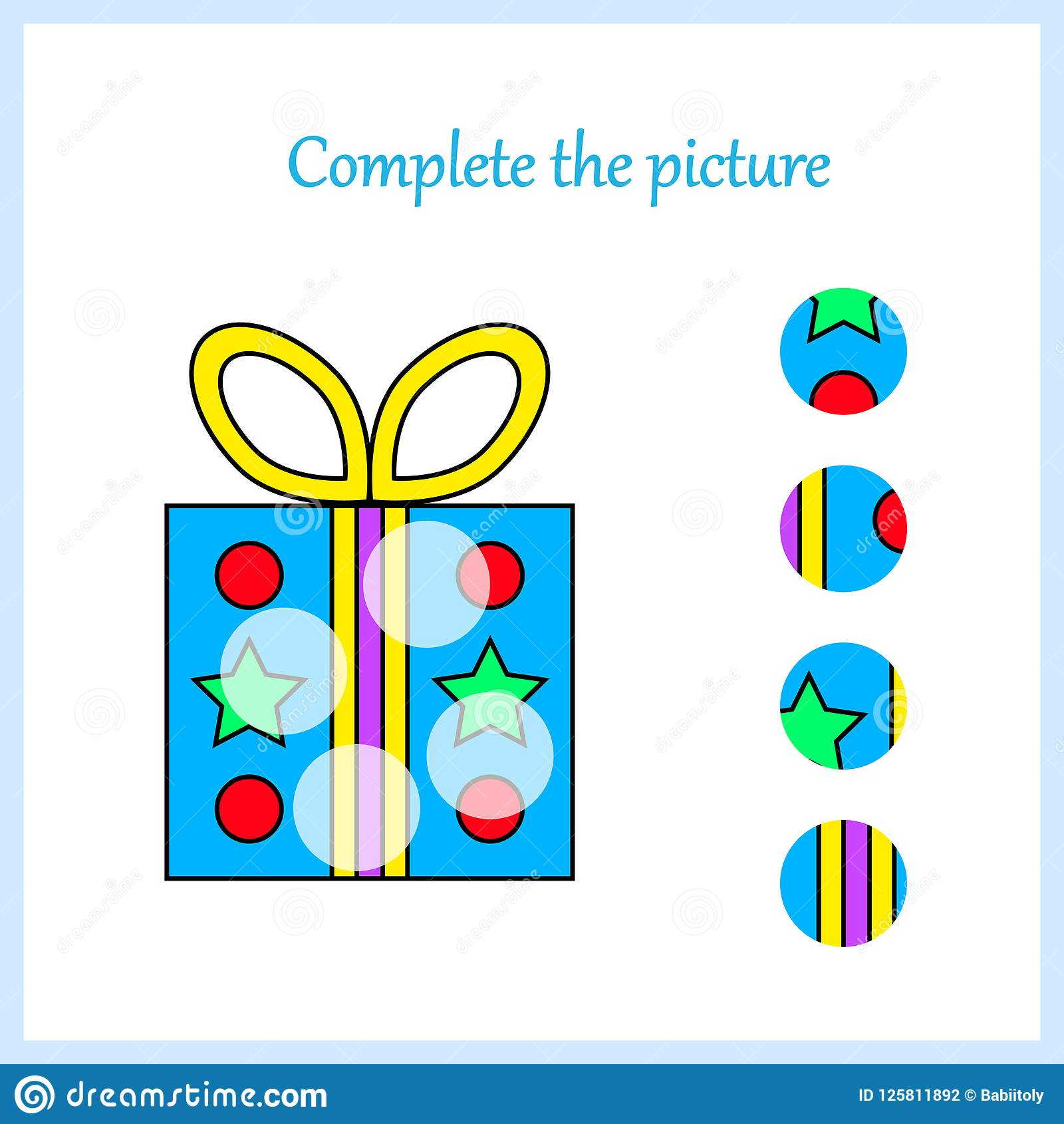 Worksheet Visual Logic Puzzle Find Missing Piece