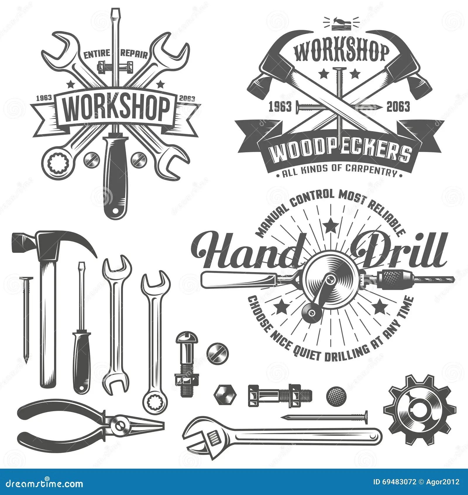 Workshop Logo Stock Vector Image Of Shop Stamp Pliers