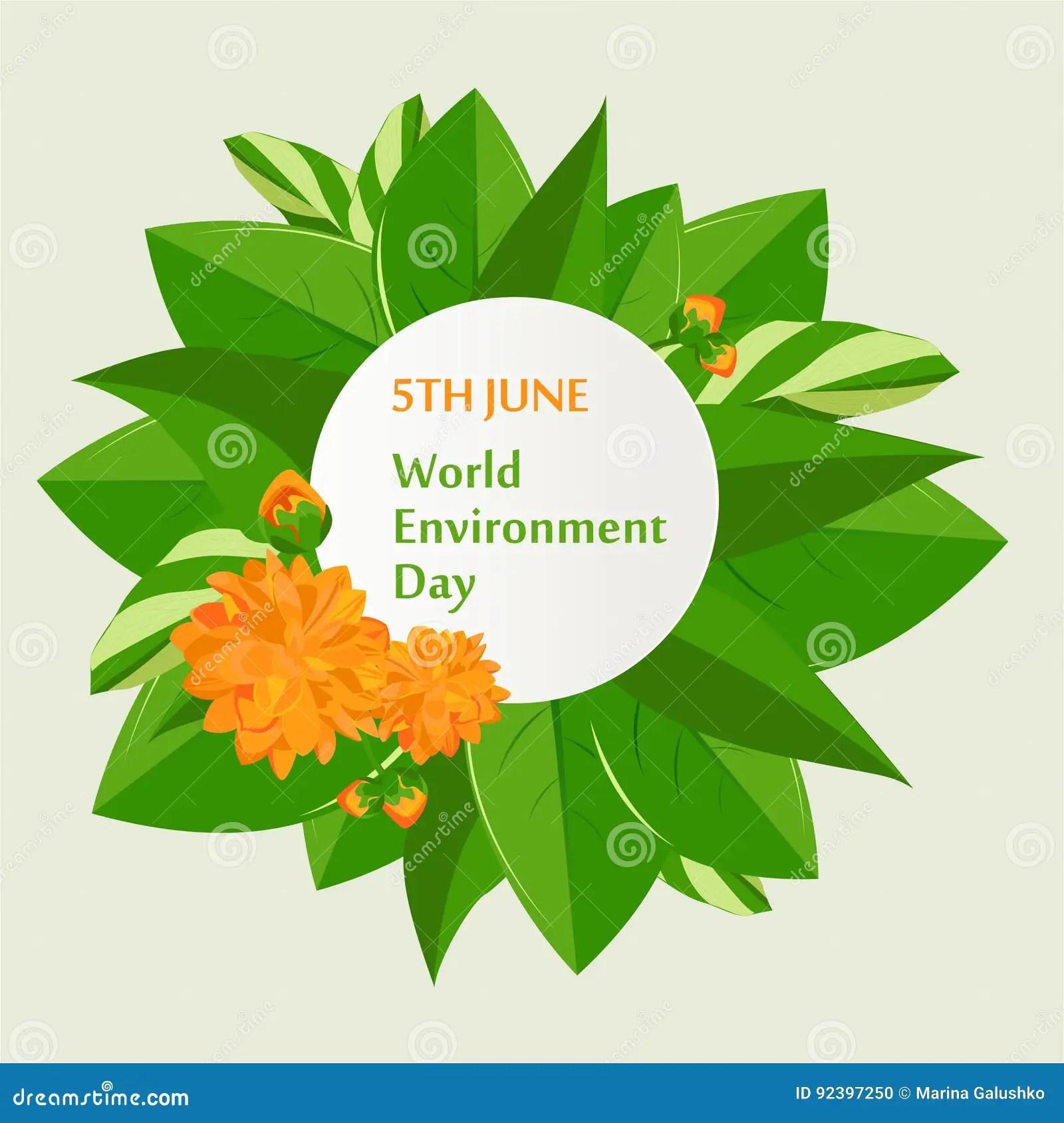 World Environment Day Poster Stock Vector