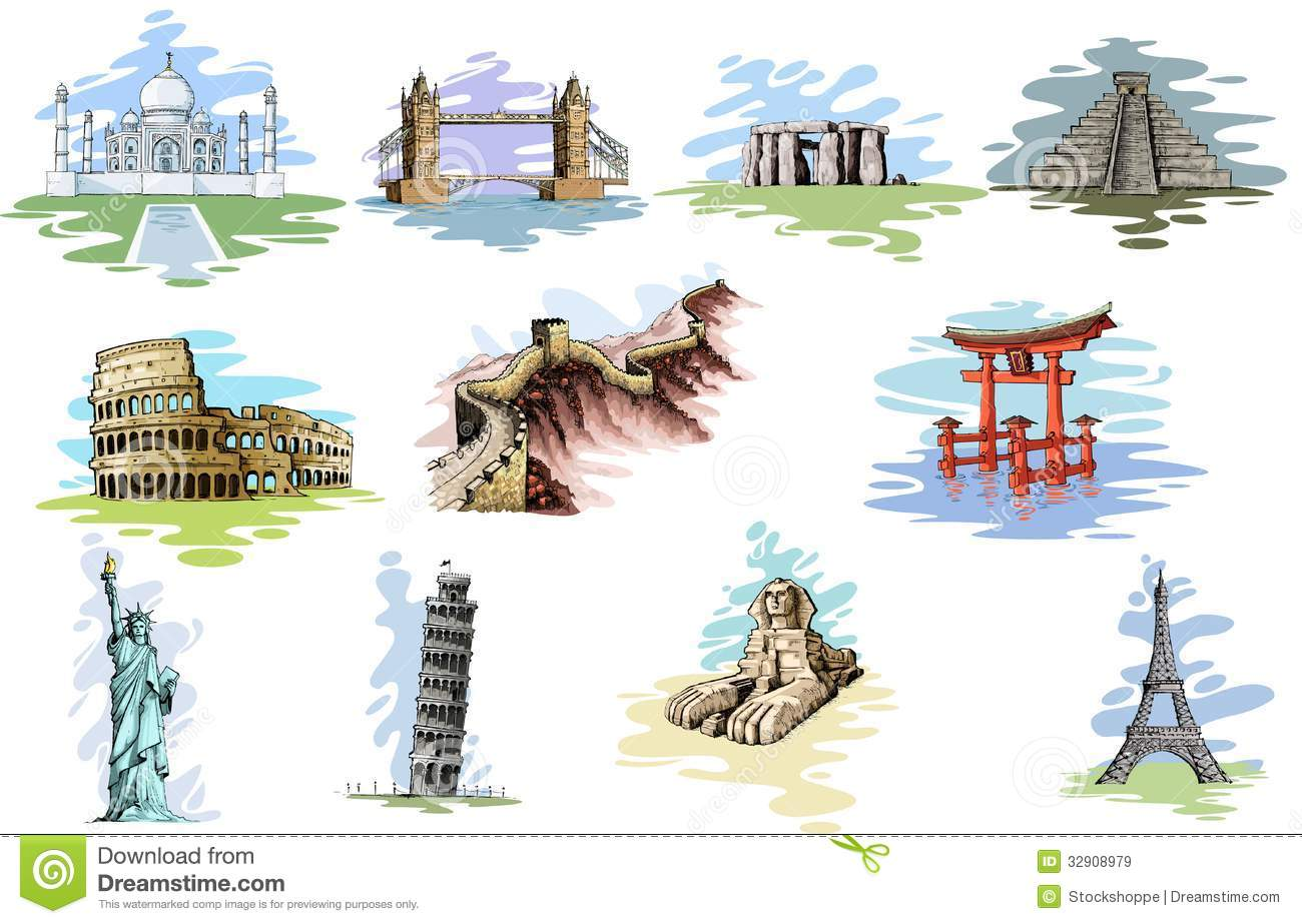 World Famous Monument Royalty Free Stock Images