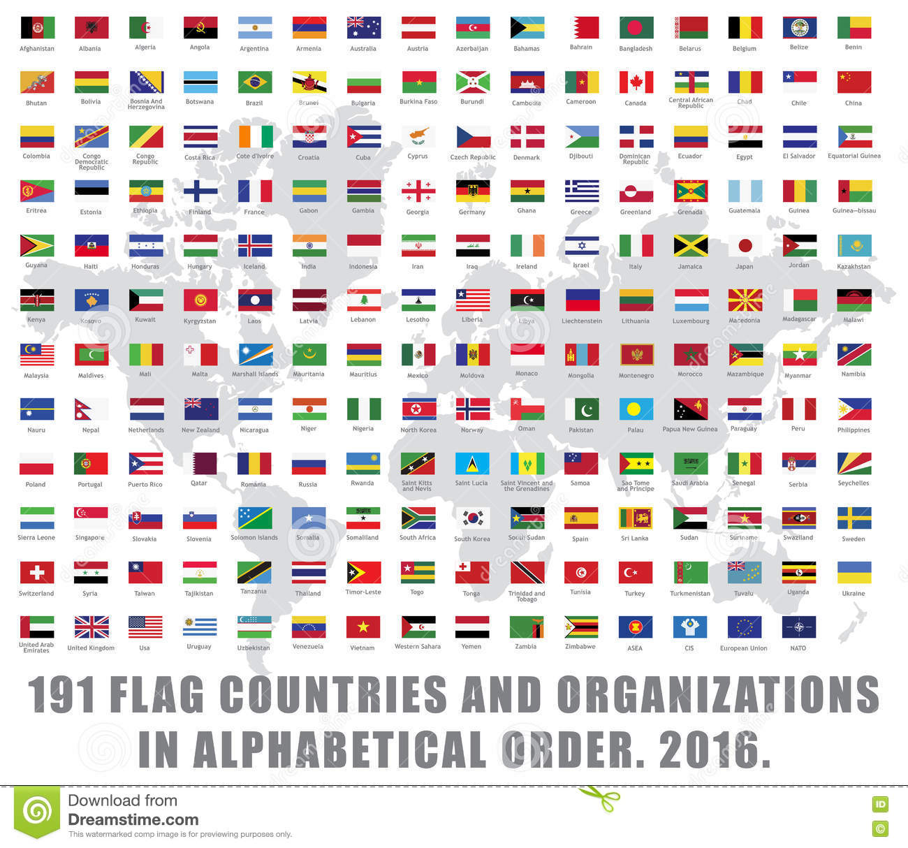 World Flags All Stock Vector Illustration Of Color