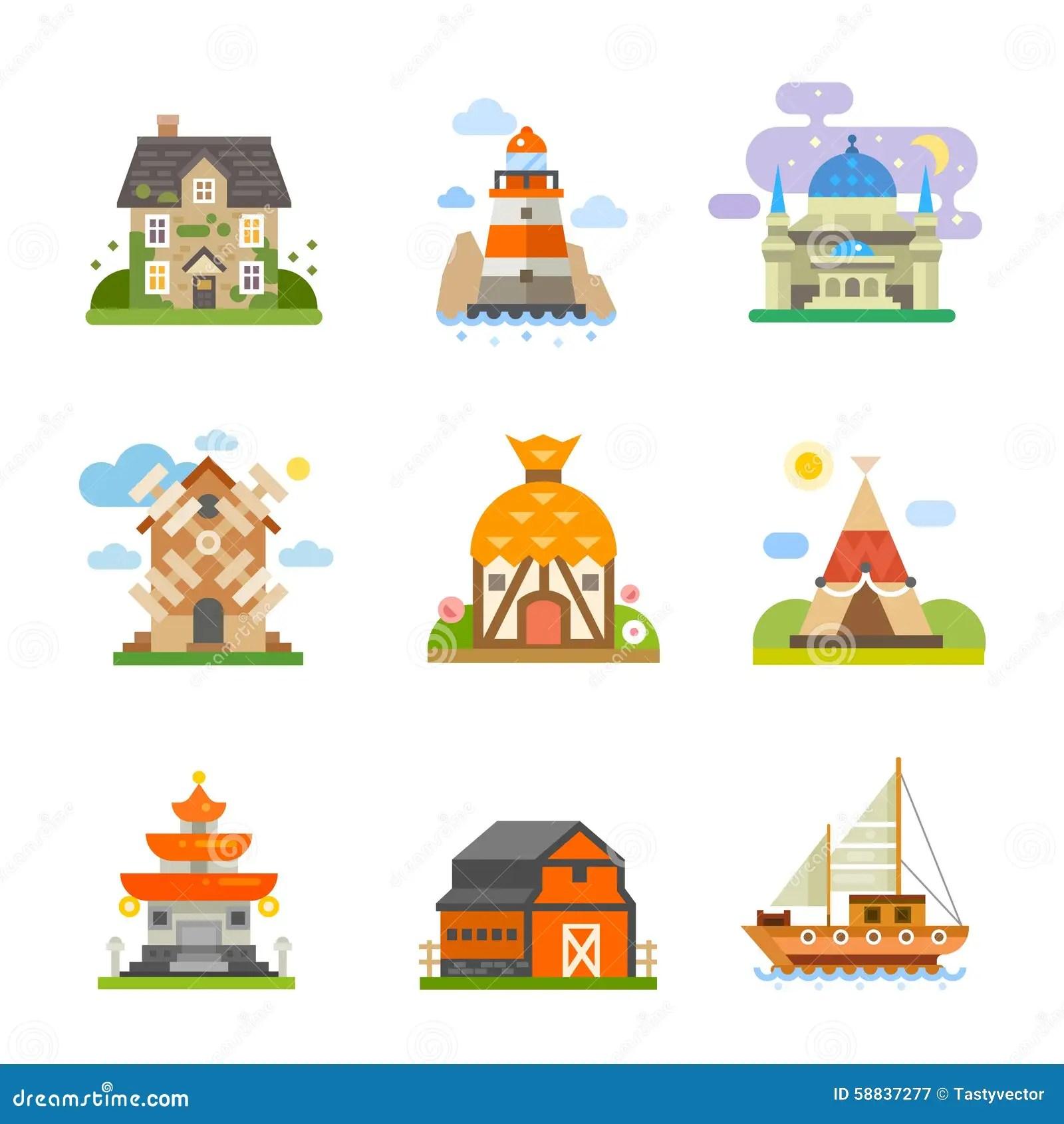 World Houses Stock Vector