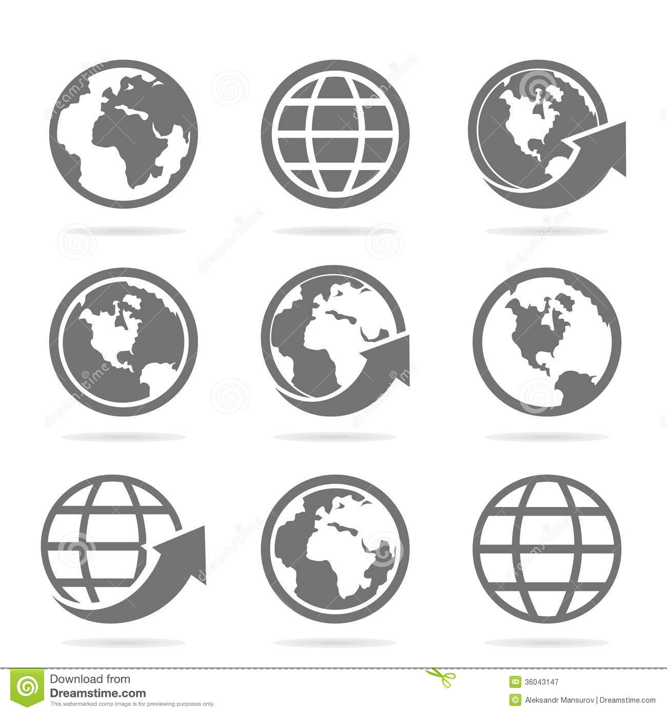 World An Icon Stock Vector Image Of North Europe