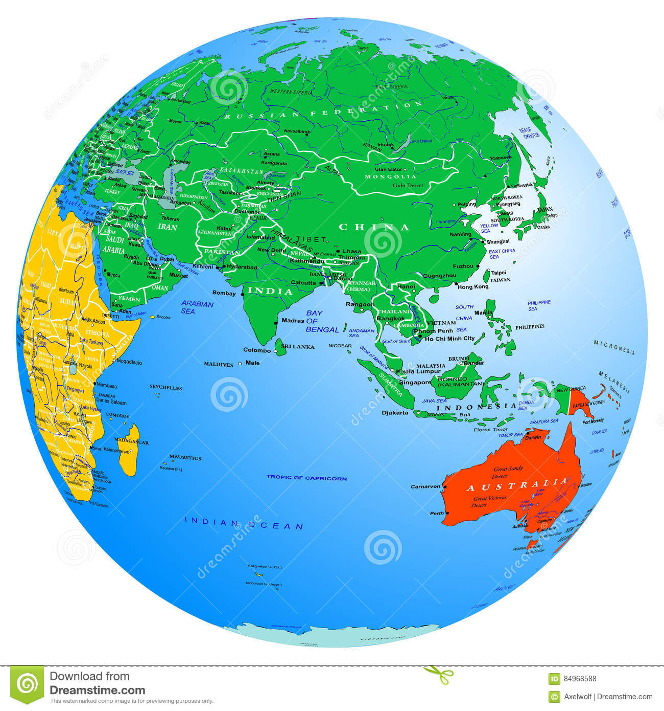 World Map Continents And Countries Globe Planet Earth