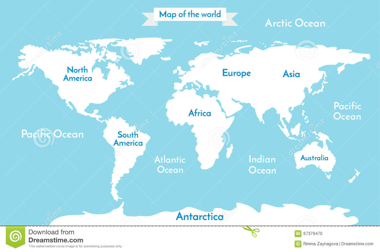 World Map Vector Illustration With The Inscription Of The