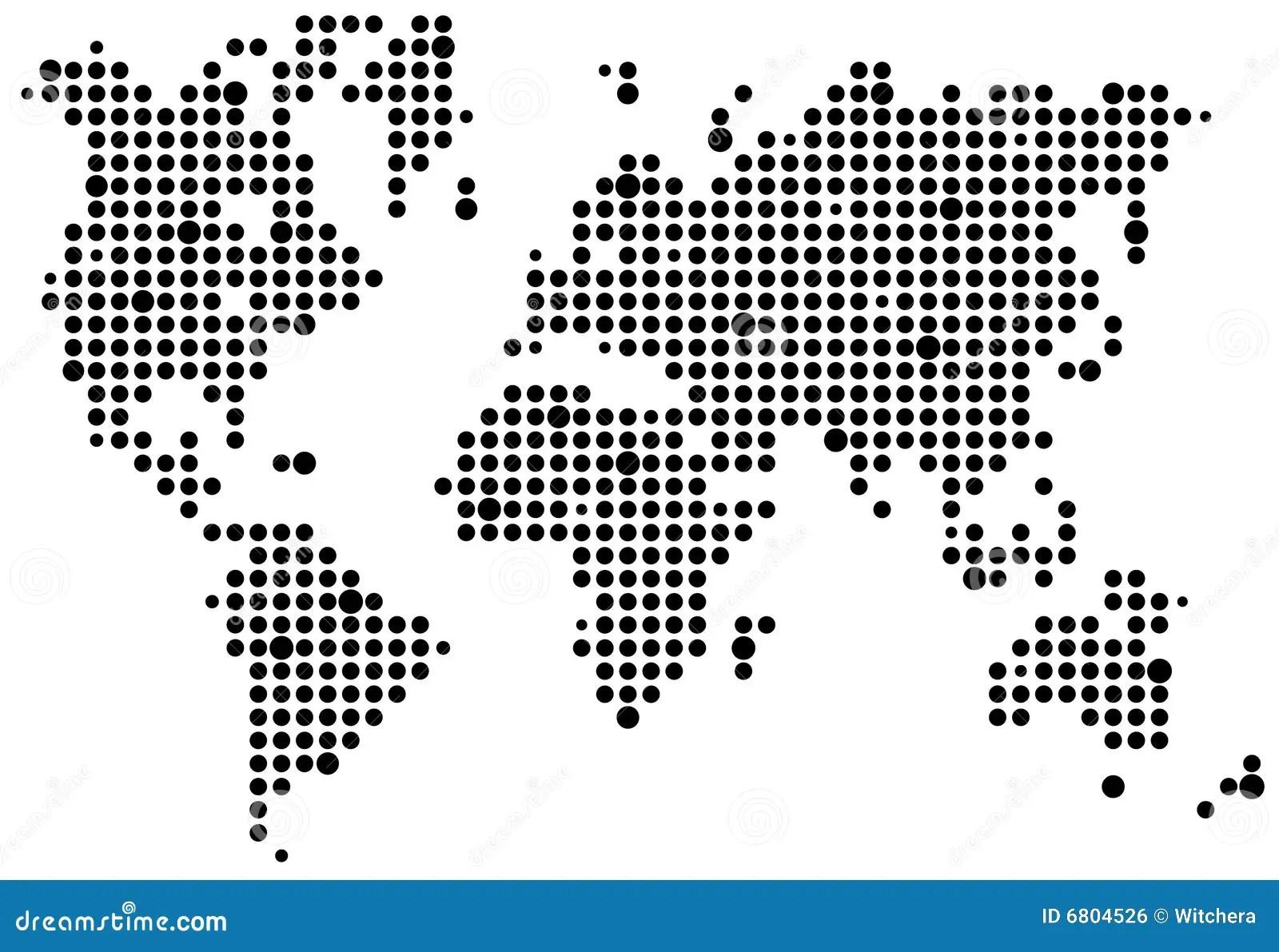 World Pixel Map Royalty Free Stock Image