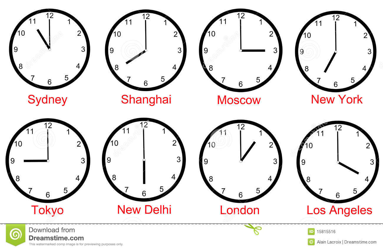 World Time Zones Stock Illustration Illustration Of Early