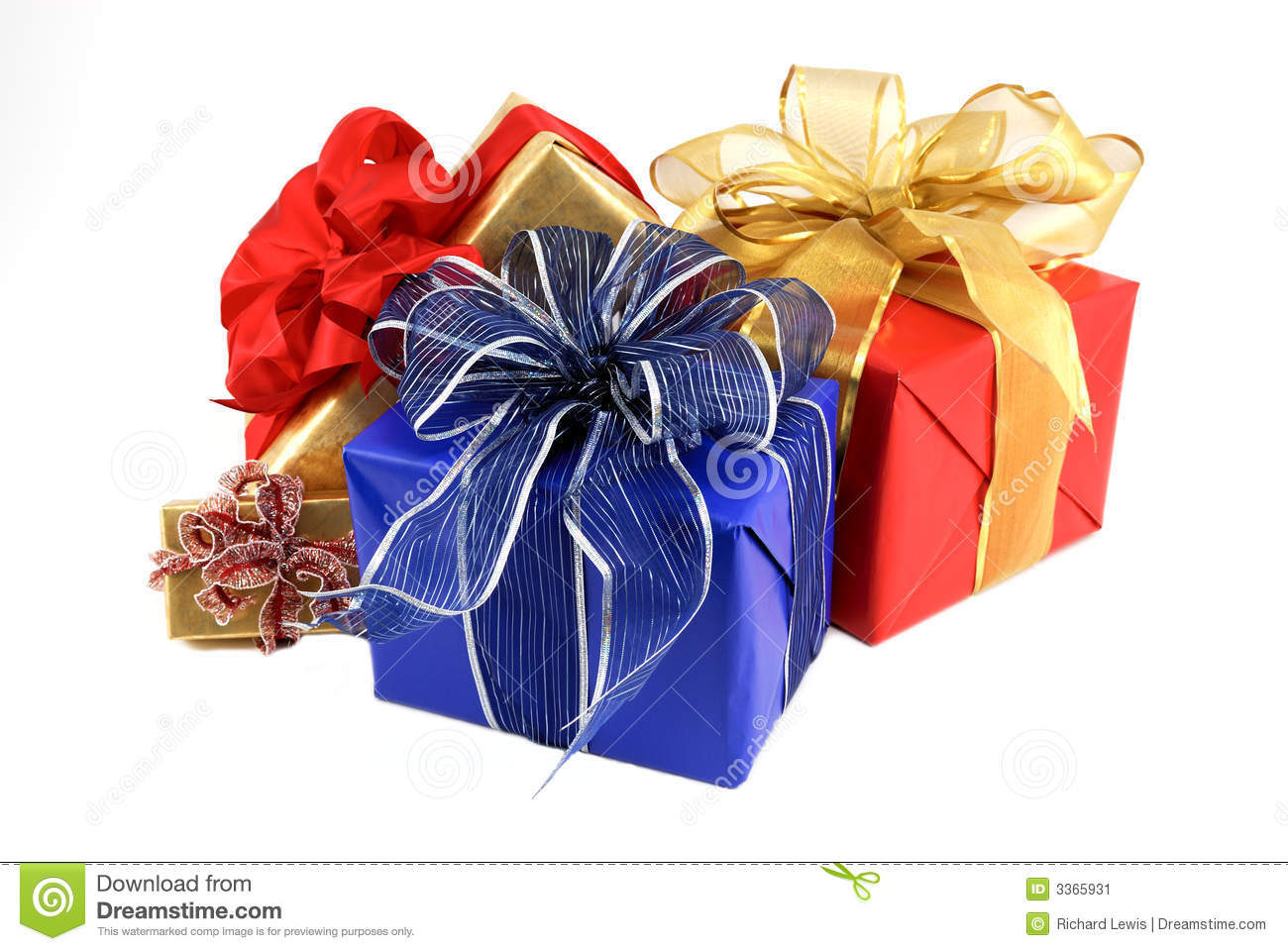 Wrapped Presents Stock Image Image 3365931