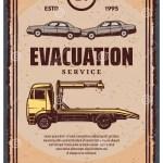 Evacuation Service Retro Poster Stock Vector Illustration Of Lorry Breakage 117096549