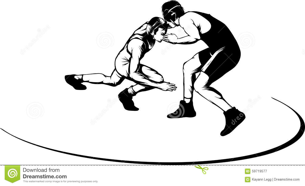Wrestling Move Stock Vector Illustration Of Wrestler