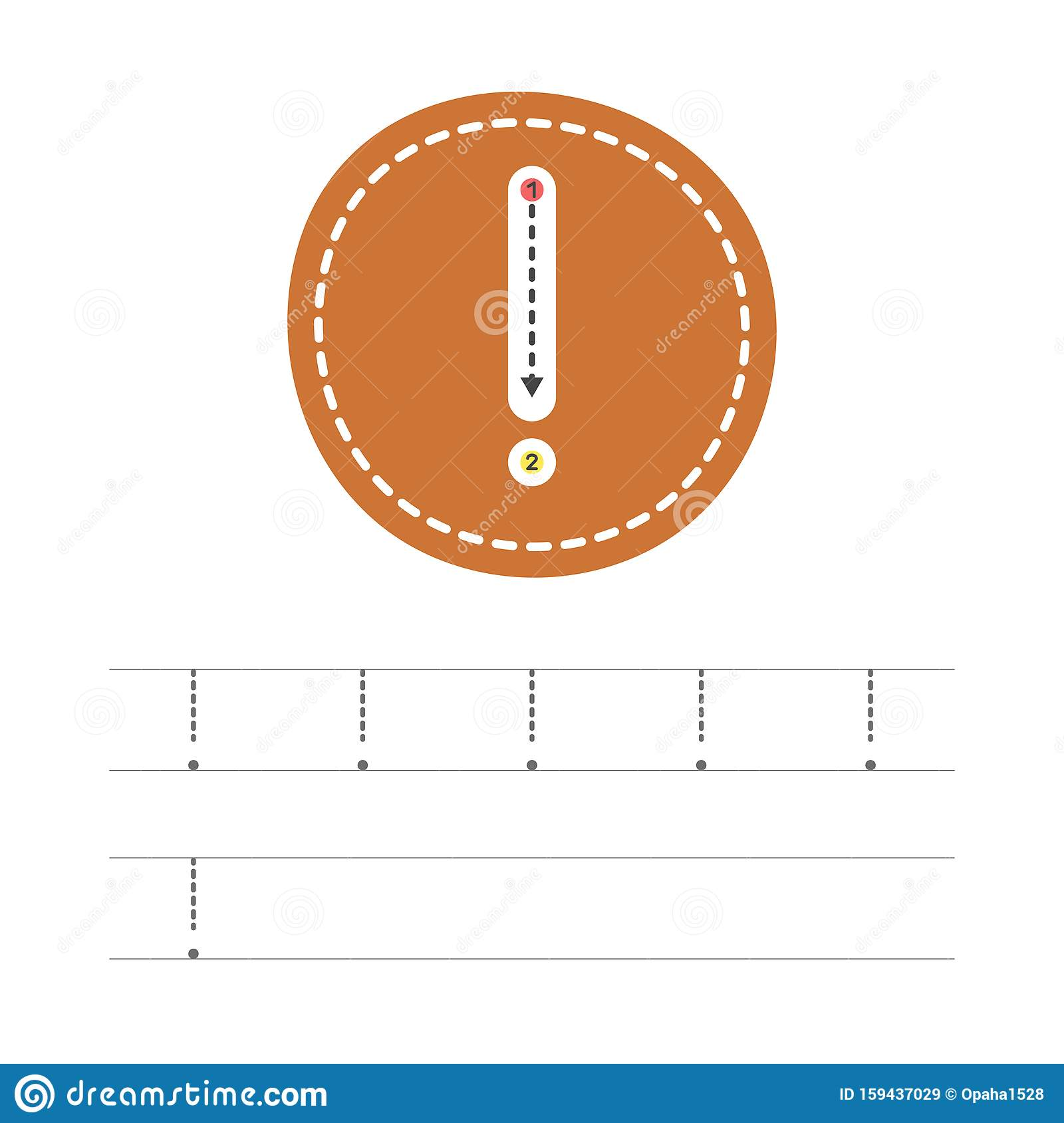 Write A Exclamation Mark 2 Stock Vector Illustration Of