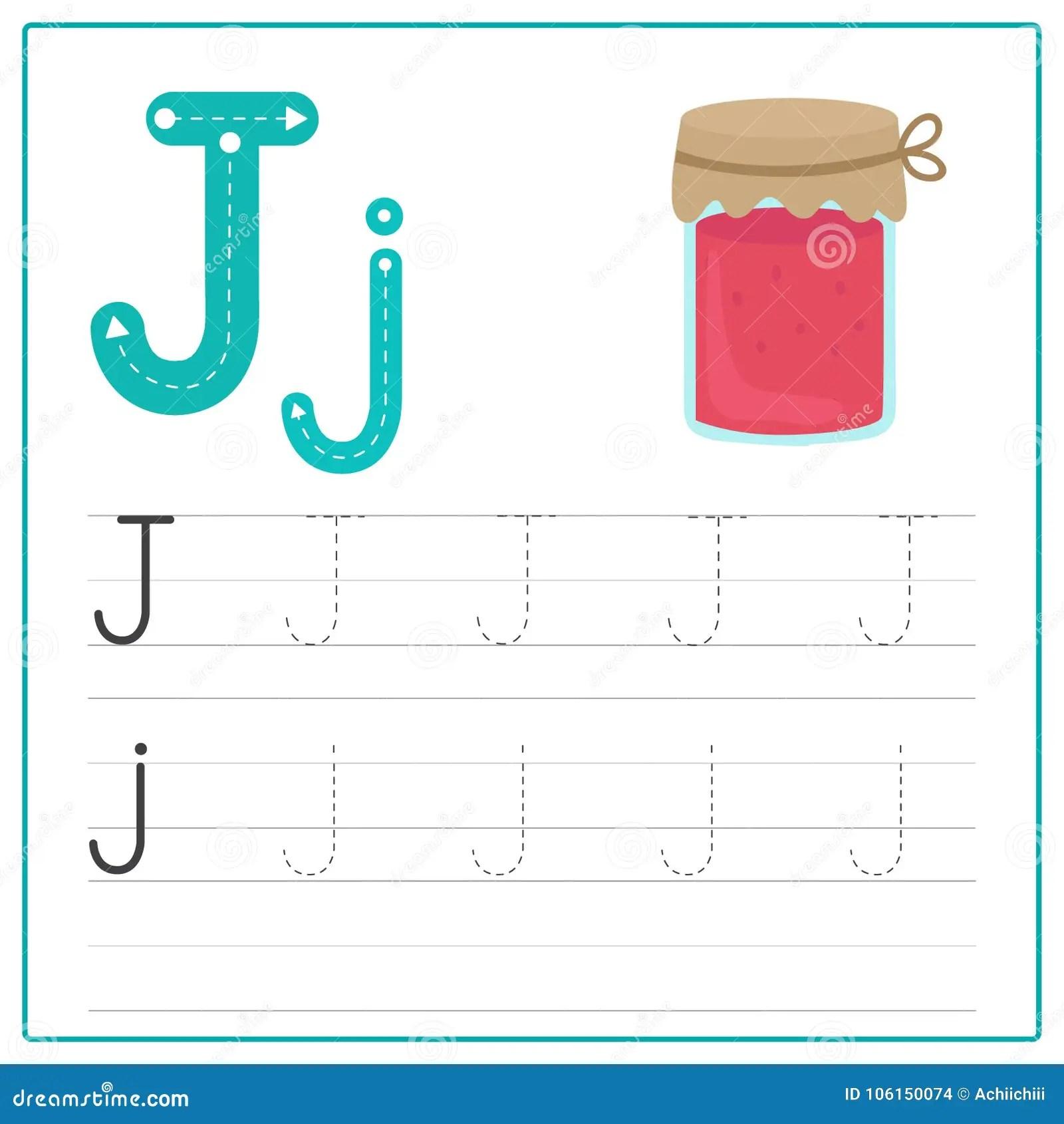 Writing Card Alphabet J Stock Illustration Illustration